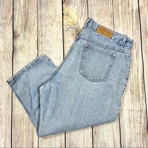 Vintage Riders Blue High Waist Cropped Mom Jeans